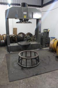 Tire press tool