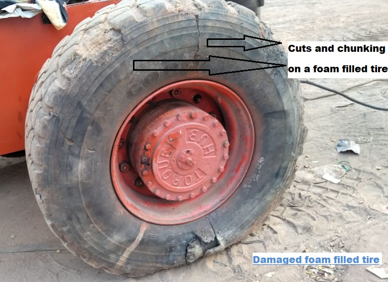 Damaged-Foam-Filled-Tire